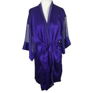 Vintage Victoria's Secret Kimono Robe Purple